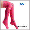 2014 winter fashion ladies heart print thigh high socks