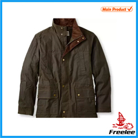 Brand Men Casual Waxed Cotton Jacket