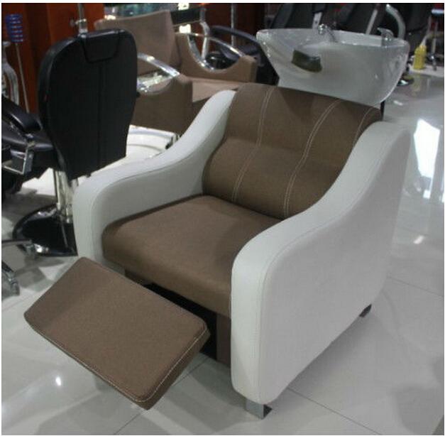 Beauty salon shampoo chairs beds hairdressing shampoo bowl for Salon basins for sale