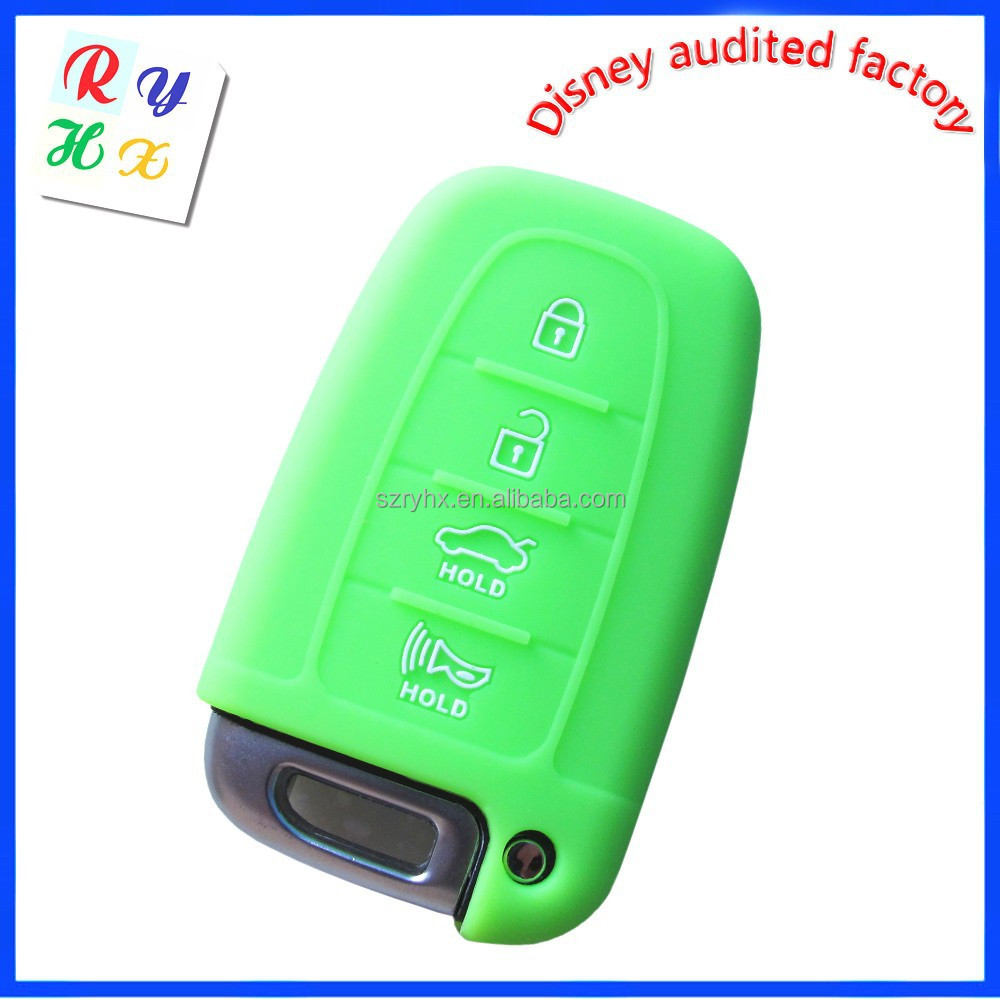 Car Key Silicone Case with Grass Green Color for Hyundai Auto Spare Parts
