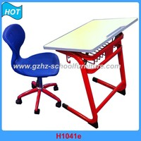 Modern Furniture Classroom Durable Desk and Chair Adjustable for School