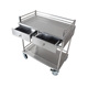 wholesale stainless steel hospital trolley medical service cart with 4 wheels
