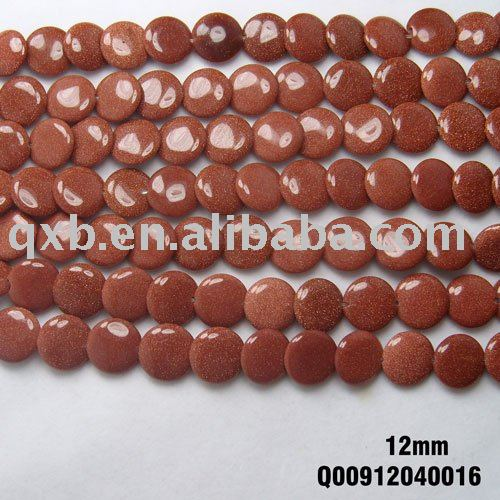 12mm flat round dis gems stone beads