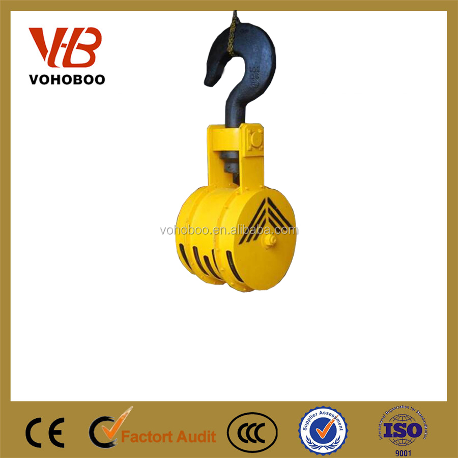 Heavy duty crane hoist swivel lifting double eye hooks