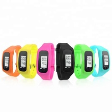 CE Rohs FCC Customized Fitness Kids Sports Wristband Step Counter 2D 3D Sensor Pedometer Watches
