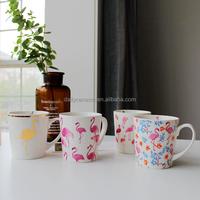 11OZ promotional gold decal printed personalized porcelain coffee mug Cheap bulk personalized simple logo ceramic mugs