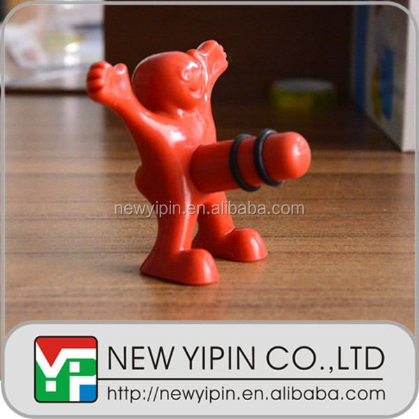 2014 newest happy man bottle stopper in wine stoppers
