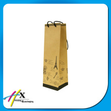 kraft paper wine bottle packaging bags with your own logo