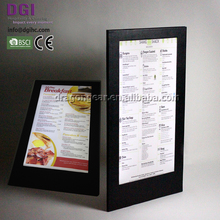 2018 new arrival Hot Sale Restaurant led menus cards illuminated food menu cover