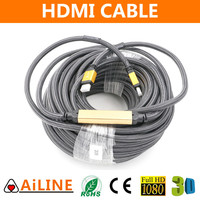 AiLINE High Definition Filter Metal Shell 24k Gold Plated HDMI Cable 1.4V