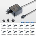 Newest !!! universal notebook adapter for fujitsu 40W 65w 90w 20v 2a 3.25a 4.5a