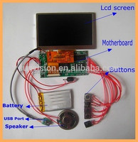 video greeting card components Lcd Brochure Module Video Brochure Modules TFT Module