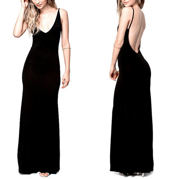 Buy 6xl Plus Size Women Black Long Maxi Summer Dress Sexy Club Wear