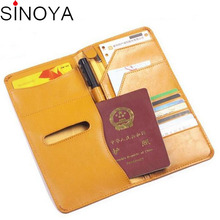 2016 rfid travel wallet passport cover pu leather