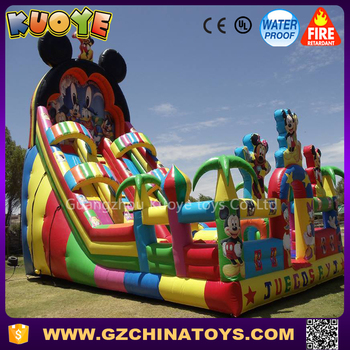 outdoor playground inflatable bouncer slide Mickey Mouse inflatable combo bouncer