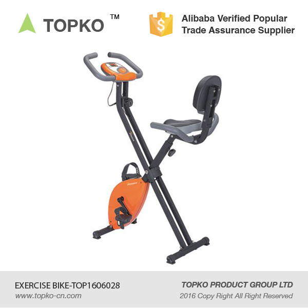 TOPKO body fit magnetic resistance gym folding upright exercise magnetic bike