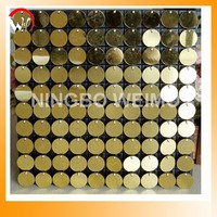 Shiny wide applicated sequin wall panel decorative interior wall board
