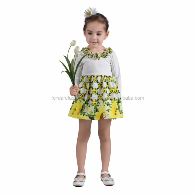 wholesale apparel casual kids sunflower fancy dress costumes