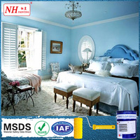 Washable acrylic interior silk emulsion plaster wall paint