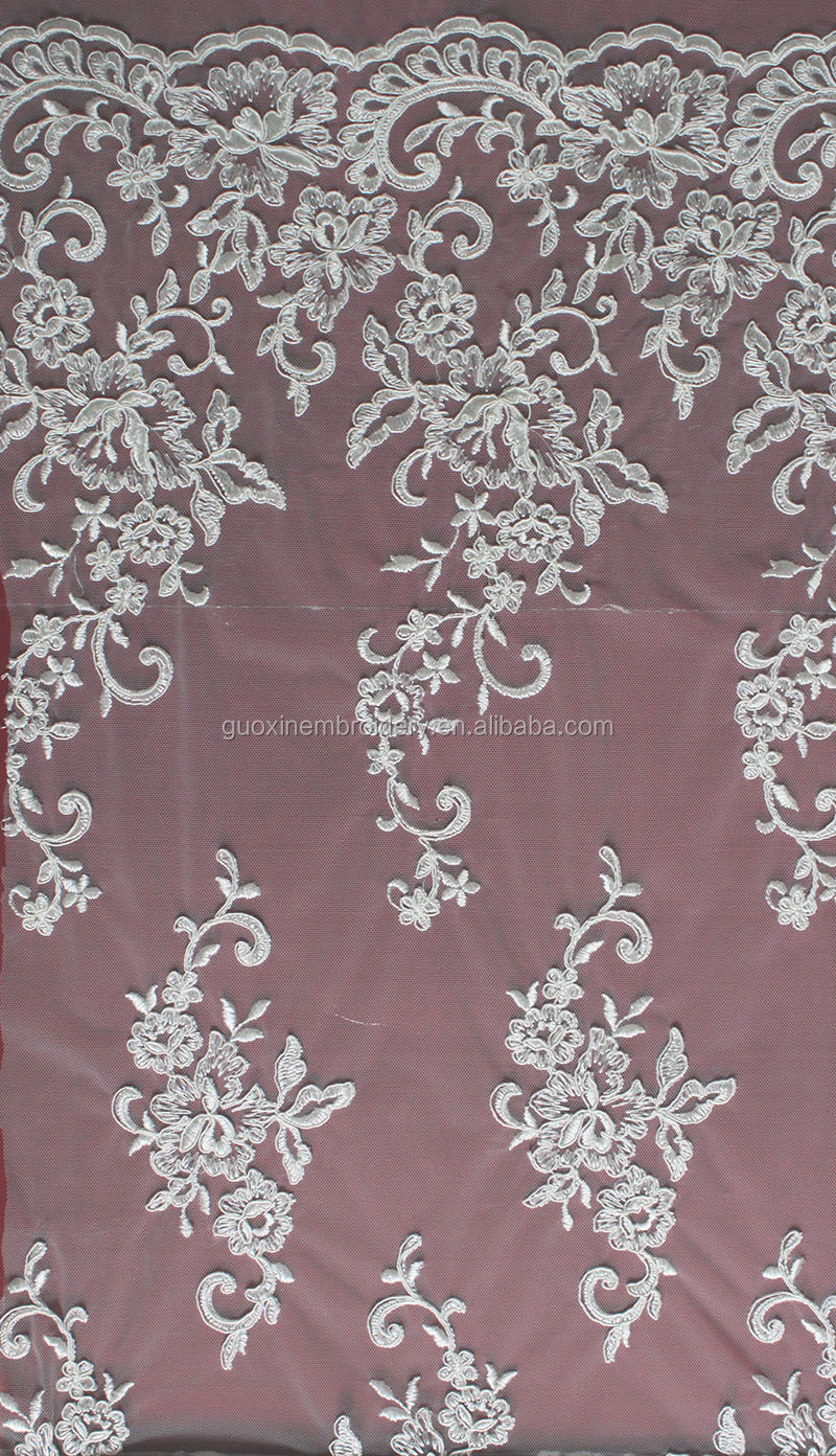 2014 hot selling emboridery cording/corded lace fabric