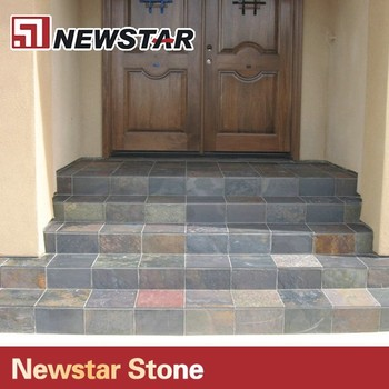 Newstar Hot Sale Good Quality Natural Stone Slate Stair Steps