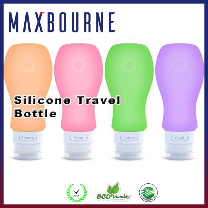 hot selling 3 oz Squeezable large food grade Silicone travel Bottles