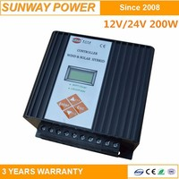 intelligent wind generator charge controller 12v 24v 200w with LCD display