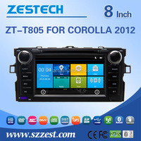 Hot selling 8'' dvd player with gps for Toyota corolla 2009 2010 2011 2012 car parts with GPS Radio SWC DTV ATV 3G Wifi AM/FM BT