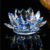 crystal glass lotus flower shape candle holder for wedding gift
