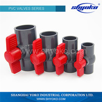 Cpvc/upvc custom single/double union plastic 4 inch pvc ball valve