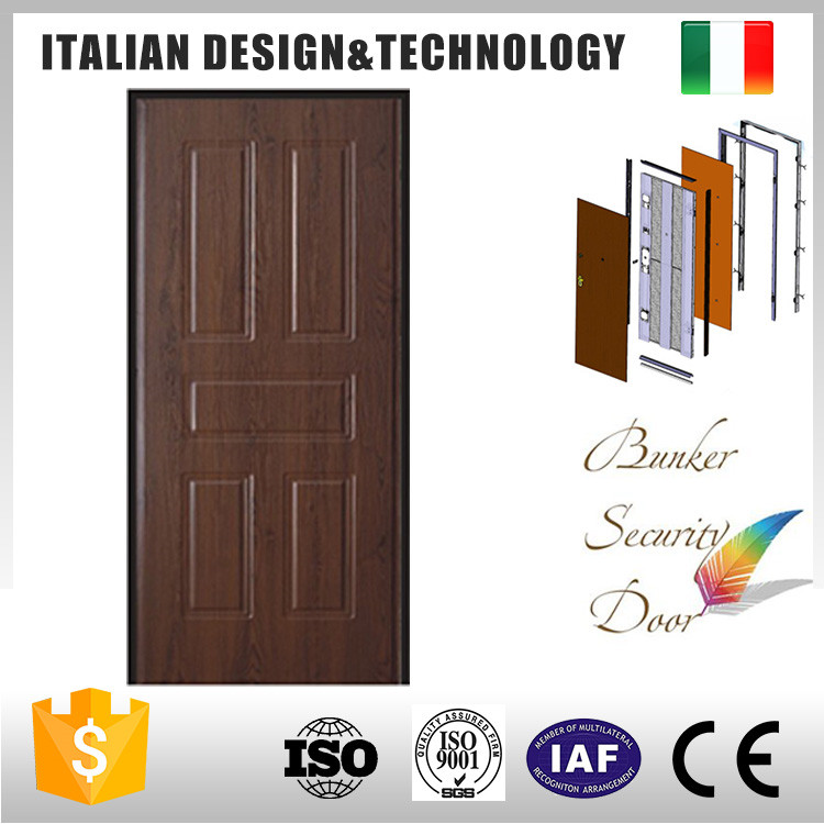 High security and quality exterior steel door decoration