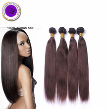 cuticle aligned hair Brazilian Silky straight Brown human hair bundles