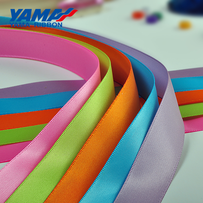 High-grade wholesale price fancy red polyester satin ribbon