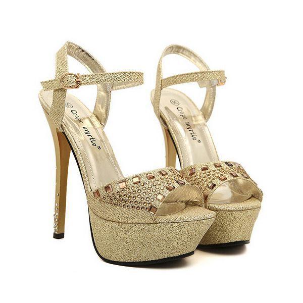 56ebc69c7a0 Buy High quality women sandals summer 2015 Fashion open toe high heel  platform sandals ladies designer rhinestone shoes for women in Cheap Price  on ...