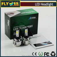 A336 led headlight 3300*2 luminous flux 36w 3 sides 3pcs cob top-ranking chips all-sided emitting light roundly without oblique