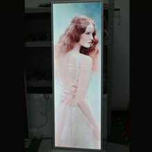 Customized Edgelight clip claps , single sided LED display board, aluminum extrusion advertising led slim snap frame light box
