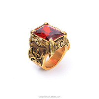 Hot Selling Antique Gold Plated Red