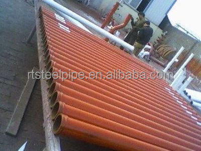 4.5mm thickness st52 Seamless steel pipe DN125 Concrete pump pipe/tube