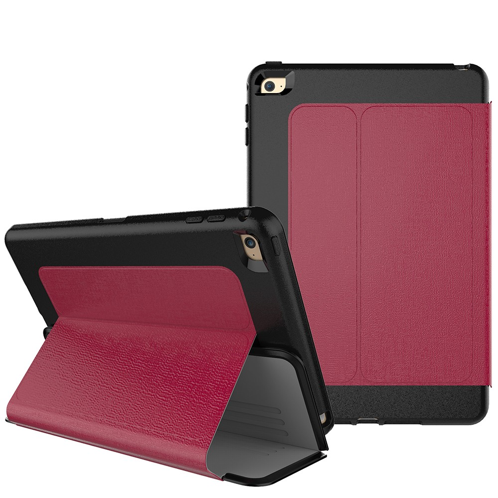 2016 New Classic Leather Flip Case For Apple Ipad Mini 4 Case Cover