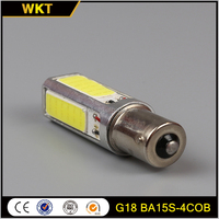 Factory top sell BA15S-4COB white light 1156 car led bulb