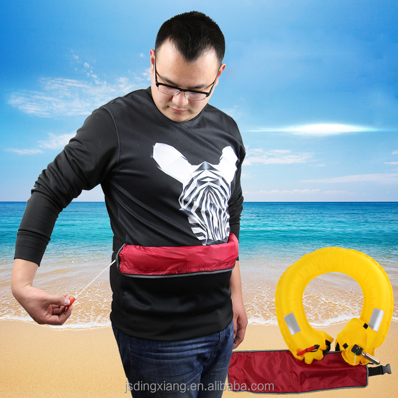 Portable inflatable swimming pool life buoy