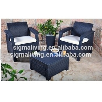 Hot sale classic design double chatting sofa chairs with tea table