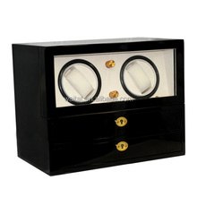 Automatic Super Mute Motor Wooden Double Watch Winder