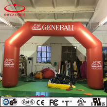 outdoor inflatable bow maroon promotional arch with logo