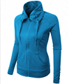 100% polyester dry fit ladies fashion pullover professional sports hoodie jackets custom logo factory wholesale