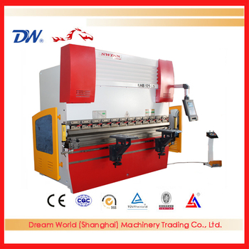 anhui DA52S system 4+1 axis 125T/2500 electro-hydraulic press brake