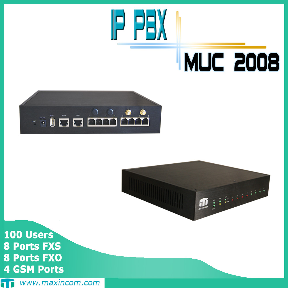 ip pbx with intercom system support voice to email /pabx telephone system/pabx box