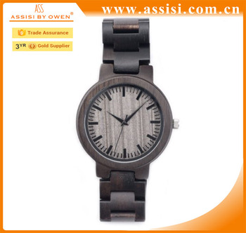 High quality new fashion wooden 100% natural watch wood wrist watch