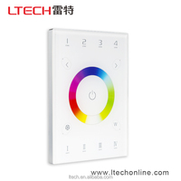 LED RGBW light switch touch panel DMX512/RF Wireless/WIFI distant control/Remote control suitable for all types of wall box