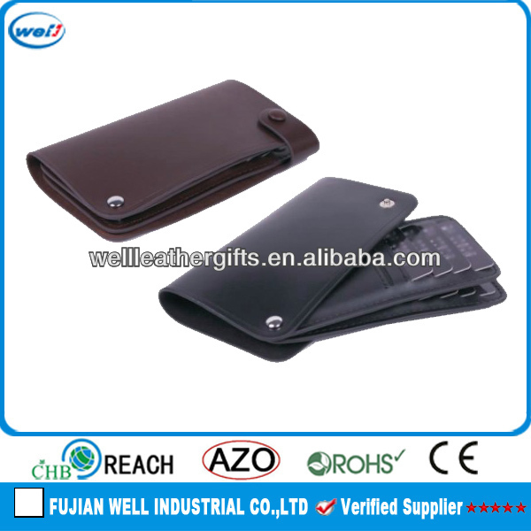 Office leather bulk business card case wholesale